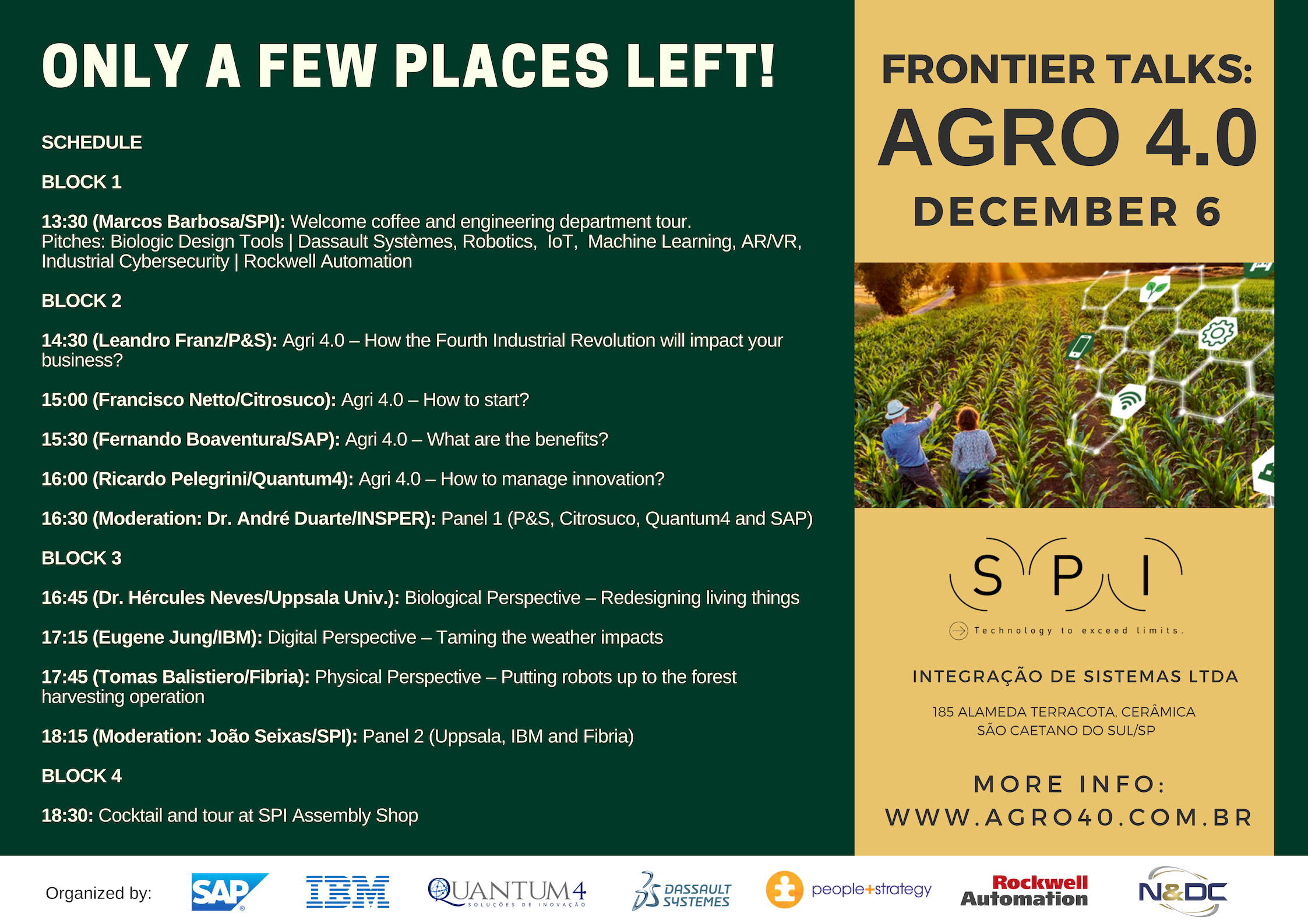 Workshop Frontier Talks: Agro 4.0 – Register Now!