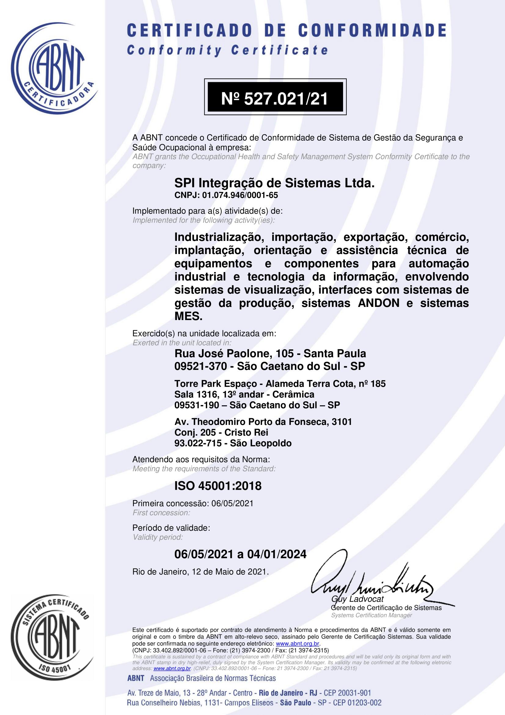 SPI Integração – ISO 45001 – 2018-1