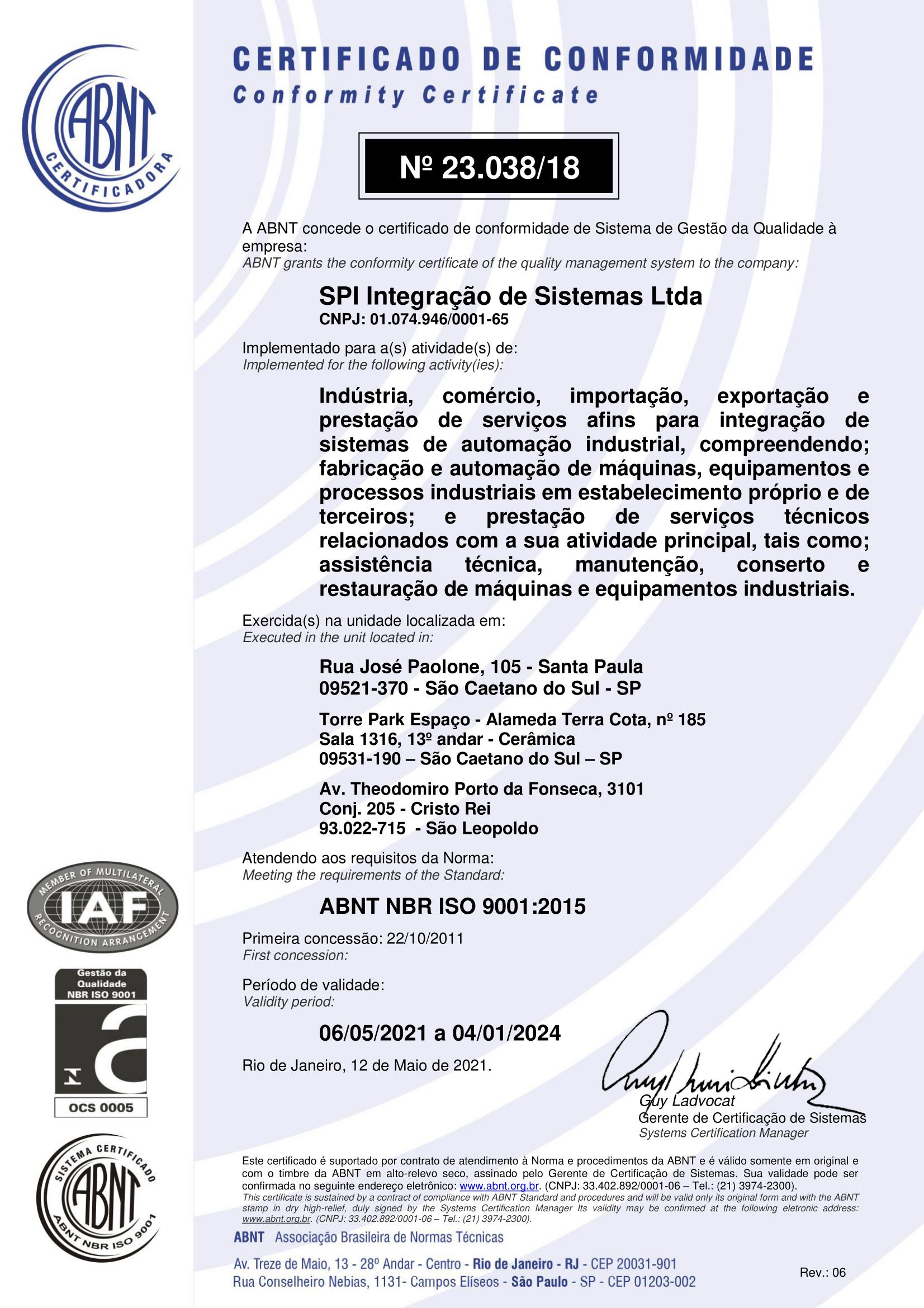 SPI Integração – ISO 9001 – 2015-1