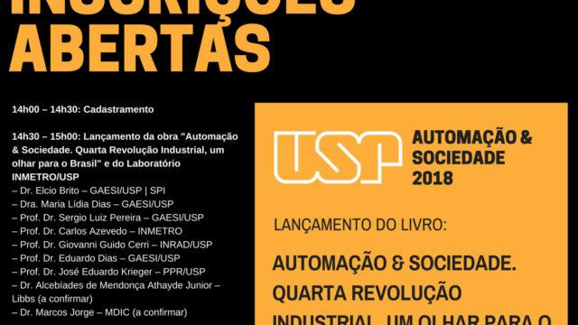 """Lançamento do livro """"Automação & Sociedade: Quarta revolução industrial, um olhar para o Brasil"""""""