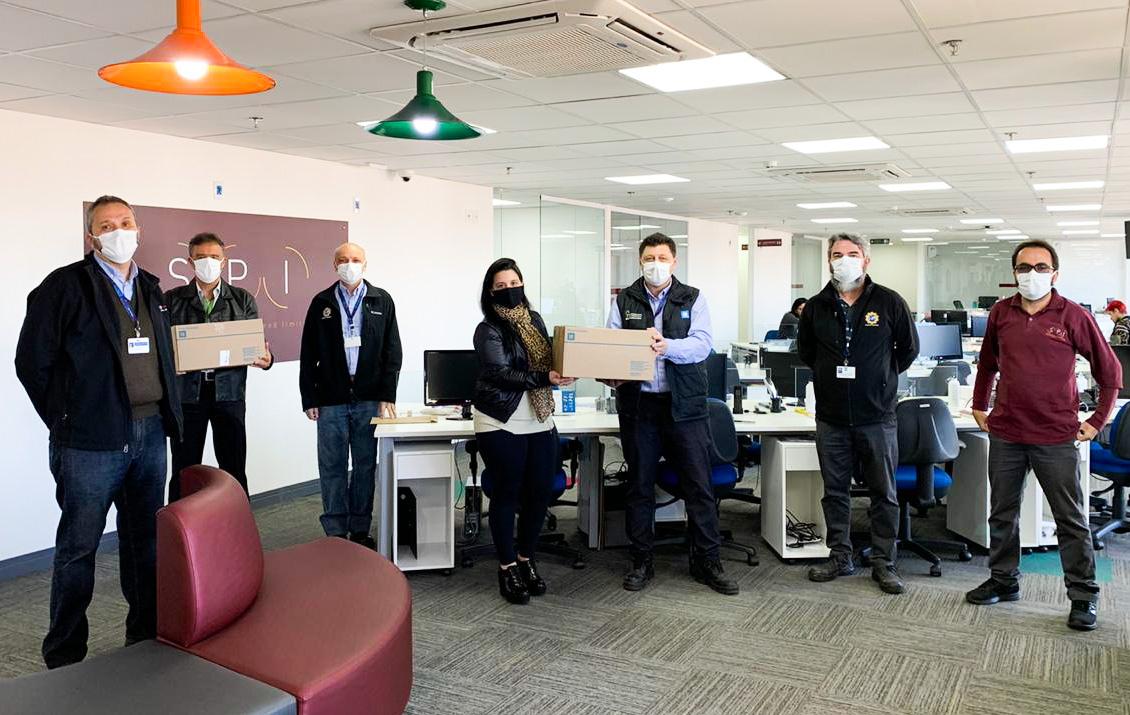 Agradecimento à GM pela doação de máscaras